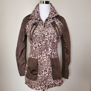 BCBGeneration Leopard Military style Jacket